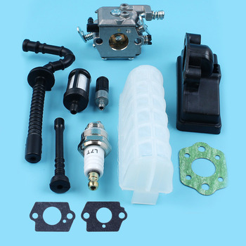 Carburetor Air Fuel Oil Filter Line Hose Spark Plug Kit For STIHL MS210 MS230 MS250 021 023 025 MS 210 230 250 Chainsaw Parts switch shaft choke rod kit for stihl ms250 ms230 ms210 025 023 021 ms 250 230 210 chainsaw parts
