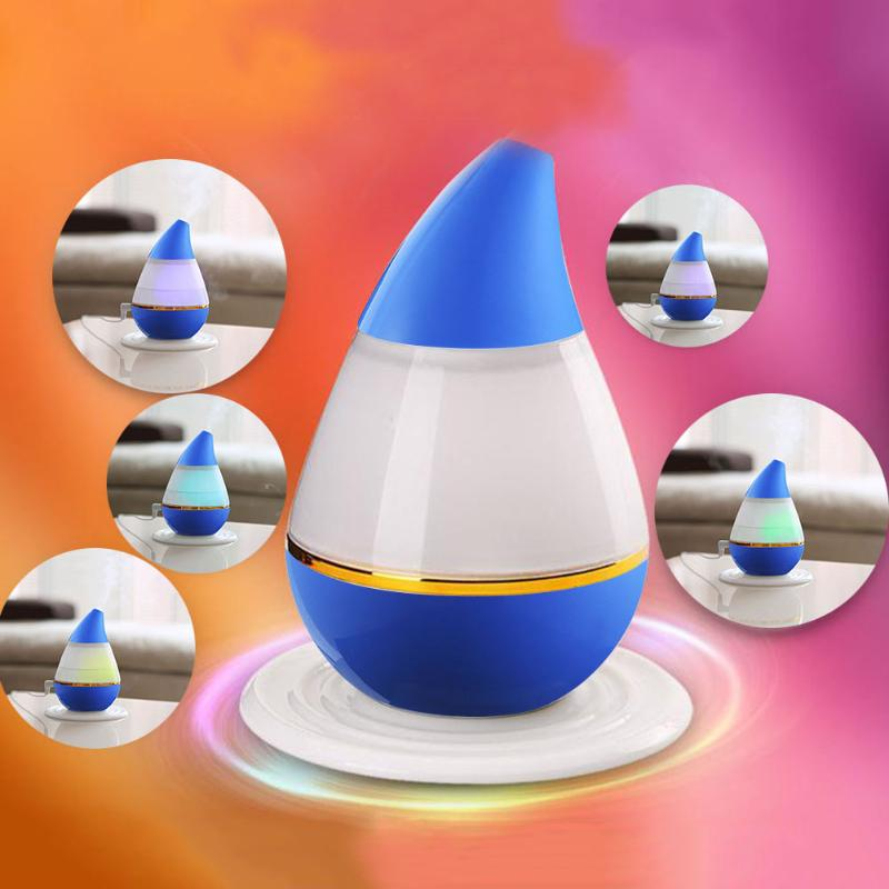 Water Drop shape Air Humidifier LED Light Aroma Atomizer Ultrasonic Humidifier Diffuser Mist Maker for Home USB mini Humidifier home car dual use mini usb vehicle aromatherapy humidifier ultrasonic air water supply instrument atomizer