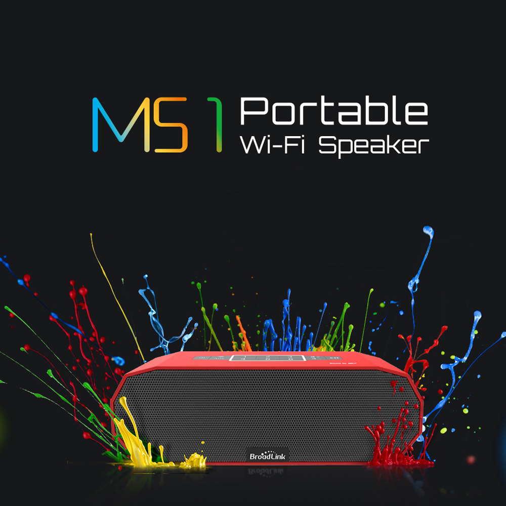 2015 BroadLink MS1 Speakers Wireless Mini Portable Intelligent Home Audio System Ndfeb Magnet Dual Stereo +Dual Passive Radiator