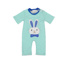 Baby Clothes Cotton Set Boy Striped Romper Newborn Easter Bunny Pattern Clothes Costume Appliques Remake Clothing