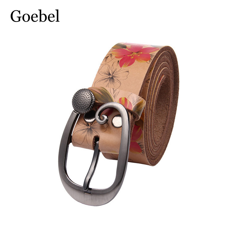 Click here to Buy Now!! Goebel Haute Qualité En Cuir Ceinture Femmes Marque  Vache Split ... 852939a6fe4