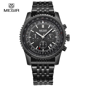 Image 4 - MEGIR new fashion quartz watch man business wristwatch for male luminous analog watches men chronograph calendar hour clock hot