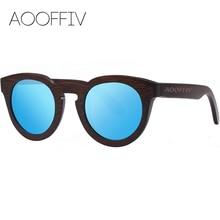 AOOFFIV Wood Sunglasses Women Polarized Lens Sun Glasses Bamboo Frame Eyewear 2017 New Designer Shades UV400 Protection ZB05