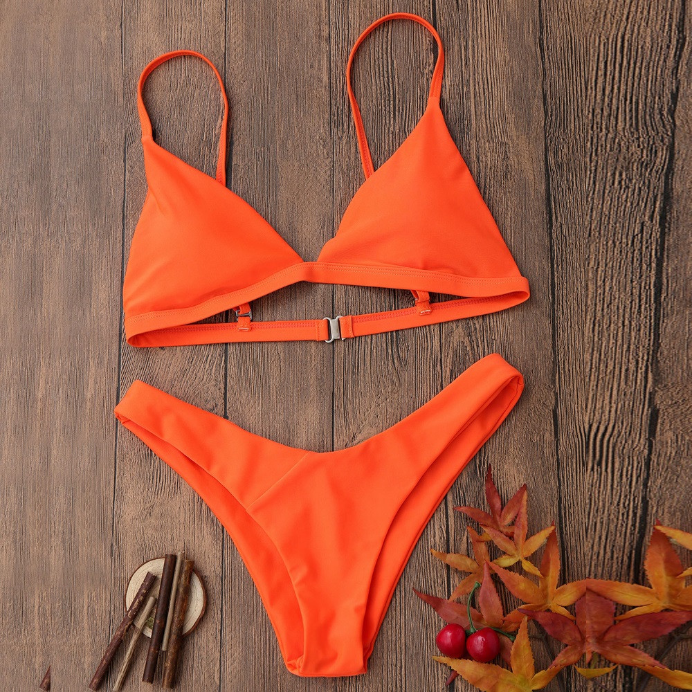 Sexy Swimwear women swimsuit for girls bikini 2019 Sling Swimsuit Push-Up Padded Bra Beach Bikini Set Swimsuit Swimwear