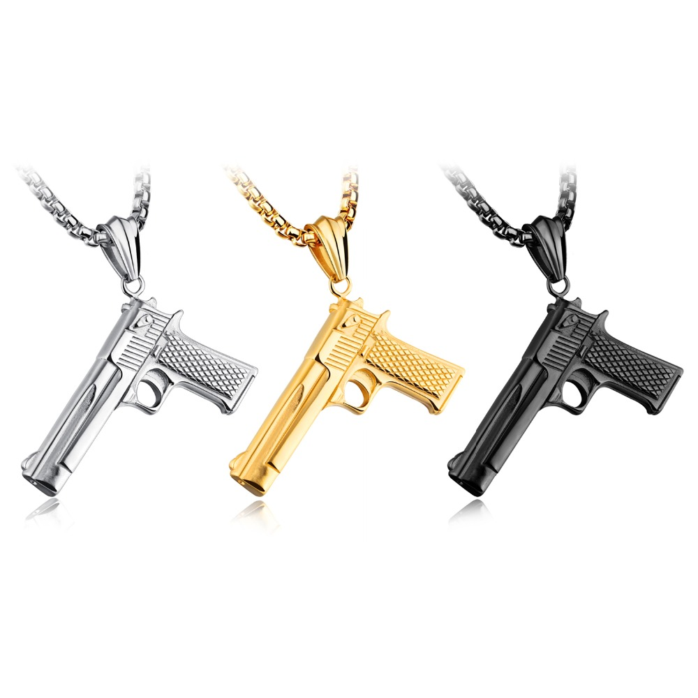 New products titanium steel men pendant chain desert eagle through the fire line CF props pendant accessories GX1219 ...