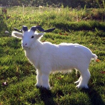 2019 nowy rękodzieło małe kozy ozdoby zabawki symulacja kozy do spania dla dzieci lalki pluszowe wypchane lalki dla dzieci urodziny prezenty zabawki
