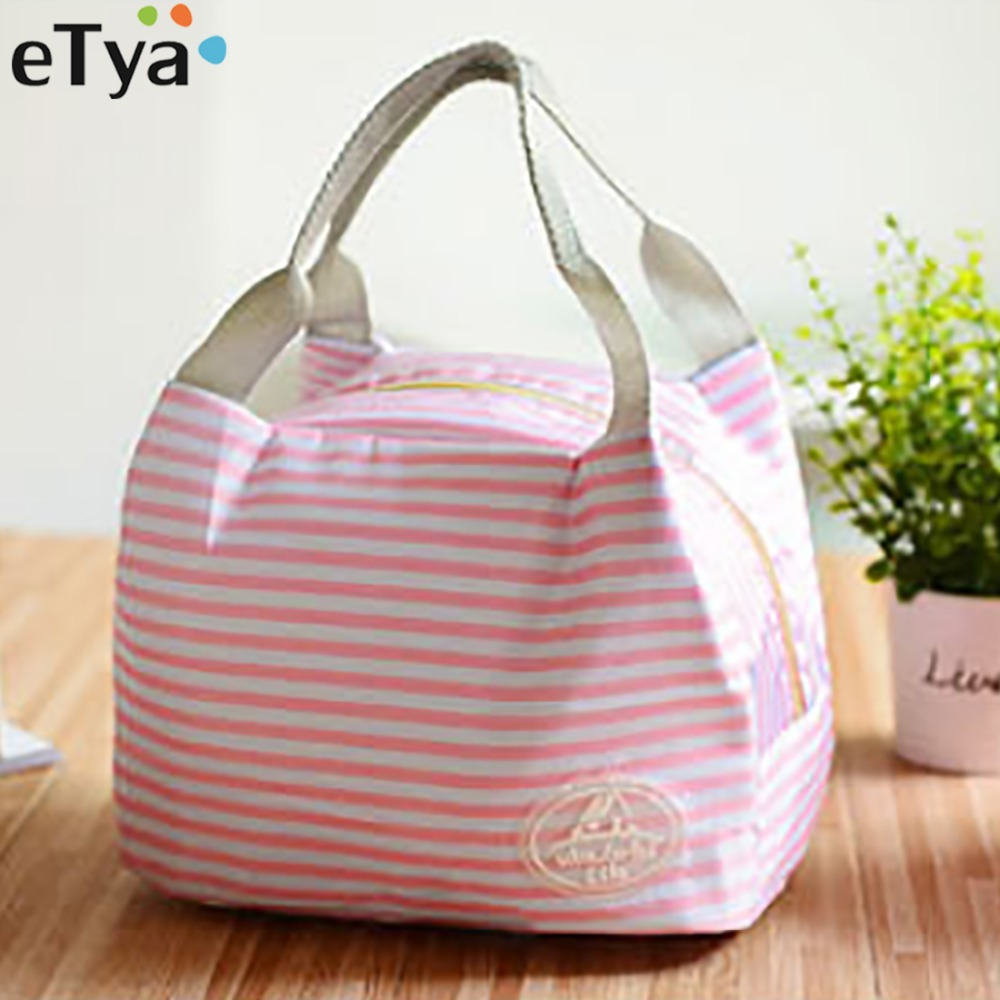eTya Food lunch bag for kids Women men thermal cooler Picnic Food Bags for Lady children Thicken Cold Insulation Lunch Box Tote etya cartoon cat food tote insulation thermal bag waterproof oxford beach lunch bag food picnic women men kid cooler bag handbag