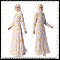 A010 de Impresión Nuevo estilo de venta al por menor Musulmán Mujeres outwear pc una Falda Larga Moda Diseño Islámico Musulmán Abayas mujeres
