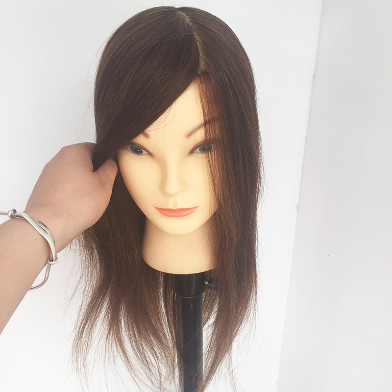 Hot Selling 100% Real Human Hair Mannequin Head For Hairdresser Hairdressing Dummy Dolls Head Training Head