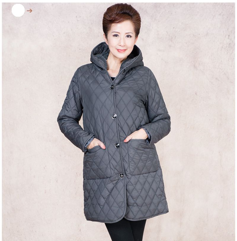 2016 Latest Winter Fashion Women Parkas Casual Hooded Thickening Warm Medium long Coat Loose Plus size