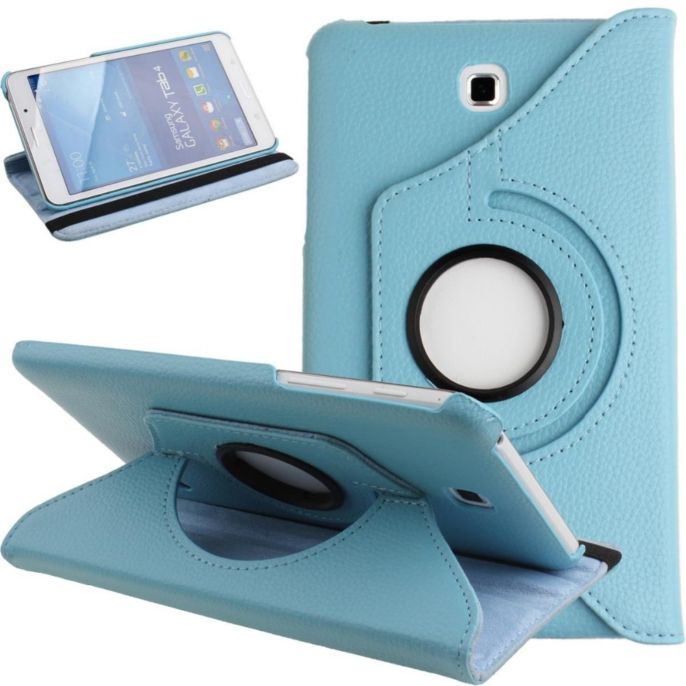 360 Degrees Rotating Stand Case Smart Cover For Samsung Galaxy Tab 4 7.0 T230 T231 T235 7 inch Tablet Cover Coque Fundas luxury 7 flower pug tablet pu leather flip stand tablet book cover case for samsung galaxy tab 4 tab4 7 0 t230 t231 t235 z1
