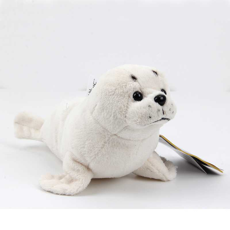 22CM Ty plush toy cute cartoon animal papa seal white sea dog sea lion Dolphin stuffed doll kids girls birthday Christmas gift 1pcs 22cm fluffy plush toys white eyebrows cute dog doll sucker pendant super soft dogs plush toy boy girl children gift