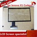 Envío libre de la original 14.0 ''pantalla táctil para lenovo x1 panel de pantalla táctil digitalizador de reparación de reemplazo de carbono (negro)
