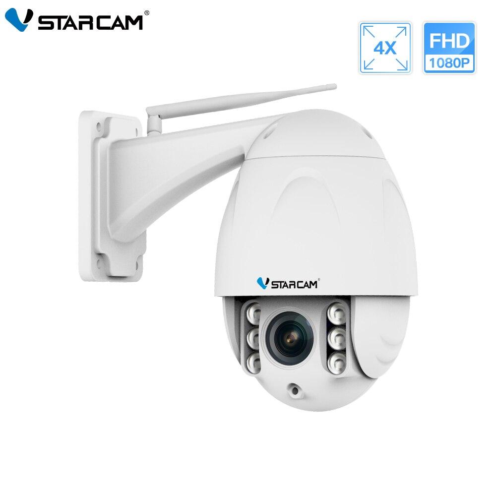 Dome PTZ Ao Ar Livre Câmera IP Sem Fio VStarcam 1080 P FHD 4X Zoom Rede de Vigilância de Vídeo de Segurança CCTV Câmera de Segurança IP wi-fi