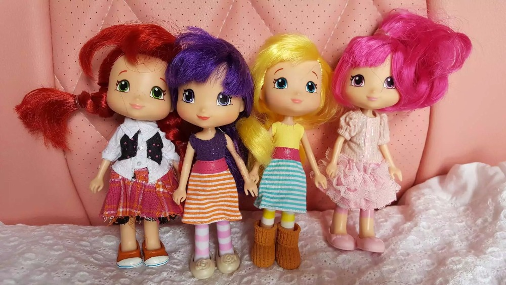 girls gift 1pcs15cm, doll for barbi,STRAWBERRY SHORTCAKE Strawberry fragrance head doll strawberry