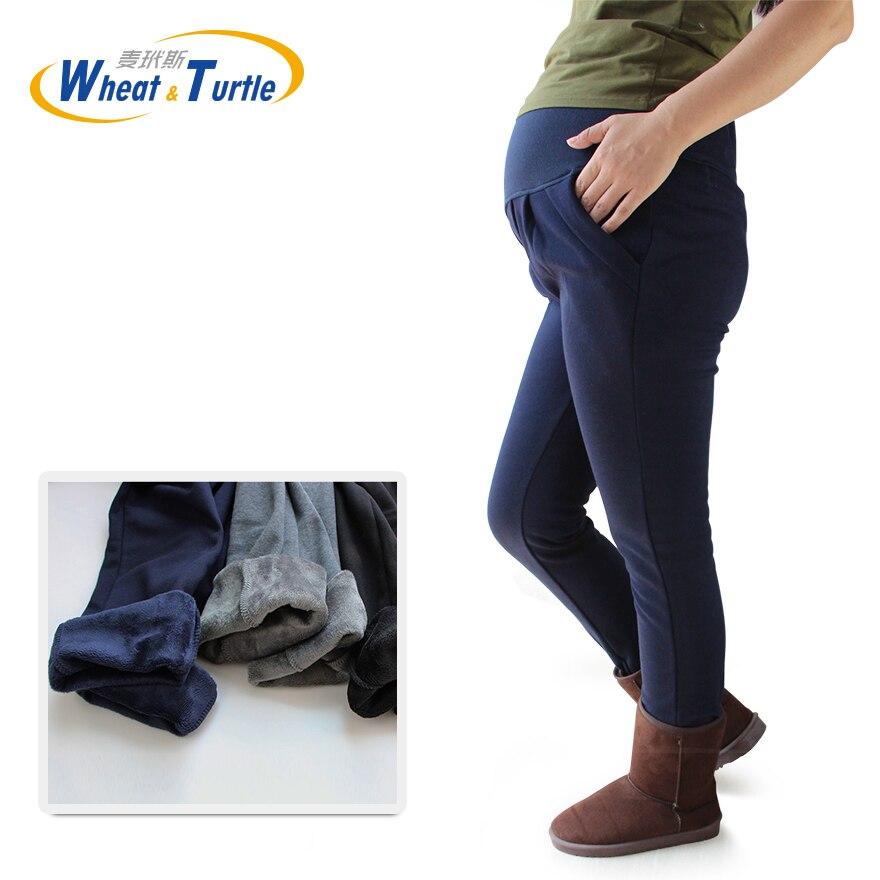 Big Size Winter Maternity Velvet Leggings XL XXL 3XL 4XL Adjustable High Elastic Legging Pants For Pregnant  Women Warm Clothes
