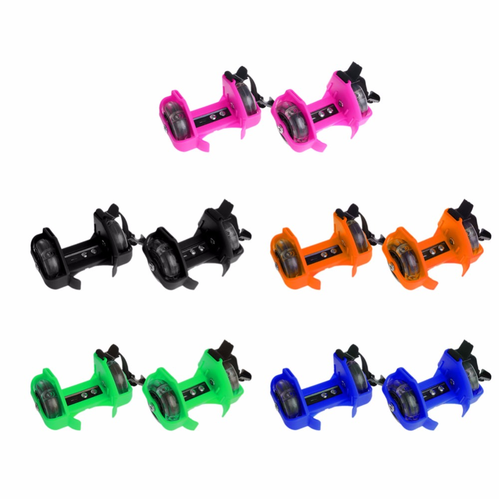 Children Wheel Heel Roller Light Adjustable Skates Kid Falsh Blade Shoe Strap Hot Sale