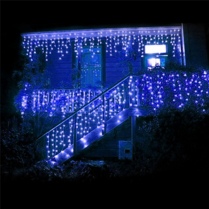 Image 4 - 1x Christmas Lights Outdoor Decoration 5m Droop 0.4 0.6m Led Curtain Icicle String Lights New Year Wedding Party Garland Light-in LED String from Lights & Lighting on
