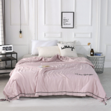 2019 New Solid Pink Butterfly knot Bedspread Summer Quilt Tencel Blanket Comforter Bed Cover Quilting Home Textiles solid gray butterfly knot bedspread summer quilt tencel blanket comforter bed cover quilting home textiles