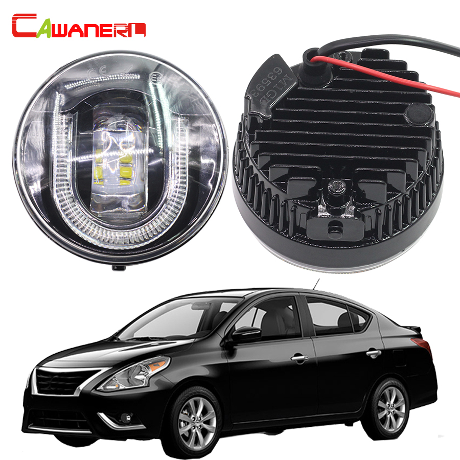 Cawanerl 2 X Car Styling LED Fog Light DRL Daytime Running Lamp 12V For Nissan Versa 2007-2011 cawanerl 2 x car led fog light drl daytime running lamp accessories for nissan note e11 mpv 2006