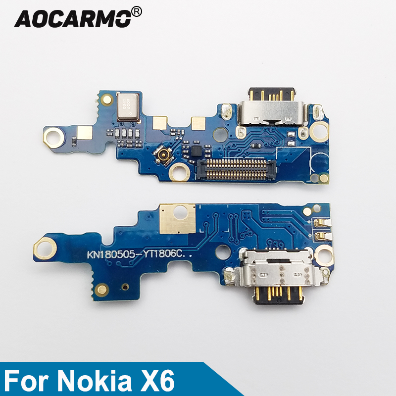 For Nokia X6/ 6.1 Plus TA-1099/1103 Type-C USB Charging Port Charger Dock Antenna Connector Mic Flex Cable Circuit Board