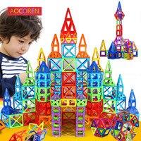 Aocoren 72 개 자기 디자이너 창조주 Magformers 3D DIY 빌딩 블록 벽돌 교육 자기 Juguetes 어린이 장난