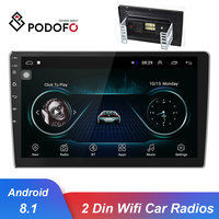 Podofo 10.1 Car Multimedia Player Android 8.1 GPS Navi Autoradio WIFI Car radios 2 Din MP5 Audio Player Bluetooth Auto Stereo