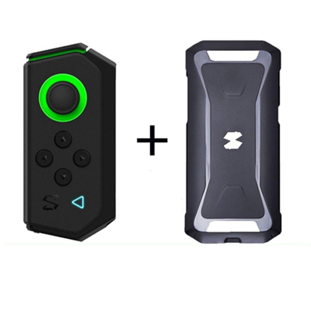 Manette de jeu noir requin avec étui de protection contrôleur de jeu gauche pour Xiaomi téléphone Android manette de jeu sans fil Bluetooth