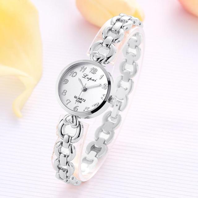 LVPAI 2018 Watch Women Gold Vintage Luxury Clock Women Bracelet Watch Ladies Brand Luxury Stainless Steel Women Clock Gifts B50 2