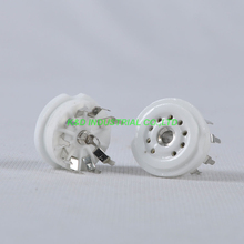 2pcs 9pin Noval Tube Socket PCB Ceramic For 12AX7 12AU7 Tube Amplifier 2pcs 4pcs psvane 12au7 tii tube diy hifi markii 12au7 ecc83