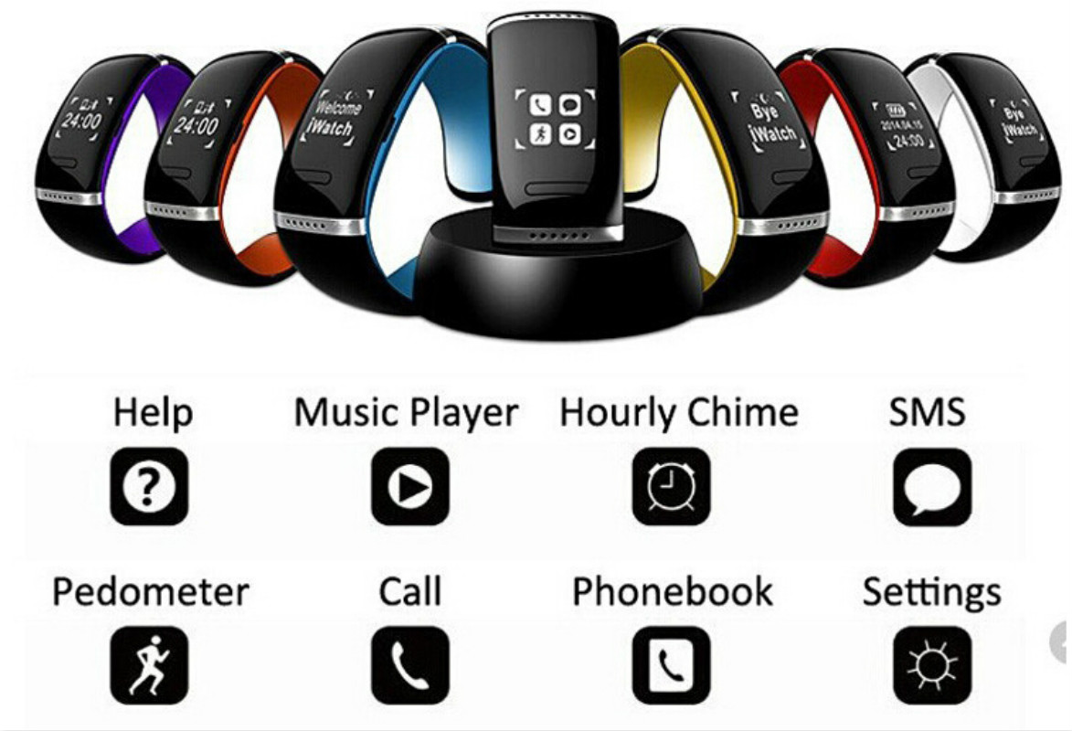 L12S OLED Bluetooth Bracelet Wrist Watch Smart Watch for IOS iPhone Samsung Android Phone Call Answer/SMS Remind цена
