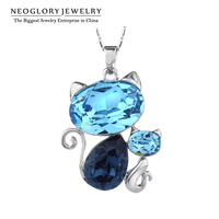 Neoglory MADE WITH SWAROVSKI ELEMENTS Crystal Alloy Plated Necklace Chain Display Pendant Wholesale Design 2016 New