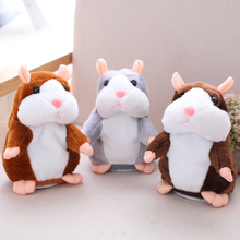 Kid Favorite 18cm Lovely Will Nod Walk Talking Hamster Speak Talk Sound Record Repeat Stuffed Plush Animal Kawaii Toys