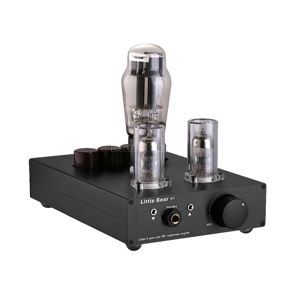 2017 New Little Bear Stereo Class A SRPP Vacuum Tube Headphone Amplifier Hi-Fi Amp Audio Preamp Black u2012 class a 6n11 tube headphone amplifier usb dac hifi preamp stereo mini audio amplifier 2017 new