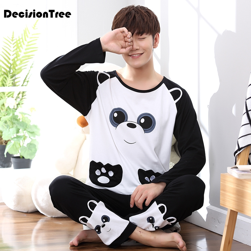2020 pyjamas men print casual plus cotton sleepwear mens lounge wear loungewear pajamas plus