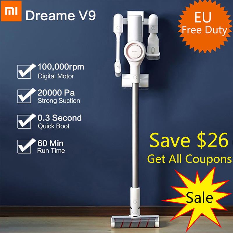2019 Xiaomi Dreame V9 Vacuum Cleaner Handheld Cordless Stick Aspirator Vacuum 20000Pa for Home Car from xiaomi youpi2019 Xiaomi Dreame V9 Vacuum Cleaner Handheld Cordless Stick Aspirator Vacuum 20000Pa for Home Car from xiaomi youpi