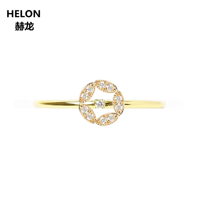Solid 14k Yellow Gold Natural Diamonds Engagement Wedding Ring Anniversary Band Fine Jewelry Millgrain Trendy for WomenSolid 14k Yellow Gold Natural Diamonds Engagement Wedding Ring Anniversary Band Fine Jewelry Millgrain Trendy for Women
