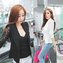 The most 1PC Sexy Women Long Sleeve Lace Crochet Blazer Small Blazer Jacket