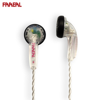 FAAEAL F400 High impedance 400ohm Hifi Earphone DIY MX500 Earbuds With SPC Cable Female Voice Bass Sound Earphone