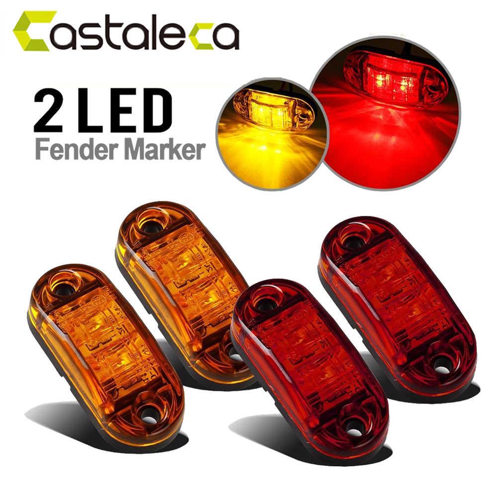 אות המכונית אור castaleca הסוטה strobe אור led בר 12 V/24 V דה מרקר פנדר צד מנורת בלם אור זנב אור למשאית קרוואן