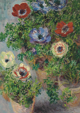 High quality Oil Painting Canvas Claude Monet Painting Still Life With Anemones Landscape Art Reproduction Wholesale стоимость