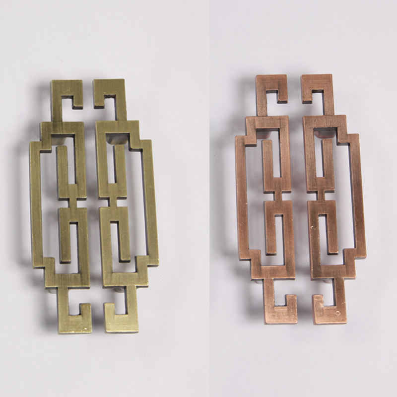 64mm antique brass door handle chinese furniture knobs and for Asian furniture hardware drawer pulls