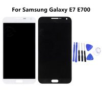 100% Super LCD For Samsung Galaxy E7 E700 E700F E7000 E7009 LCDS Display Touch Screen Digitizer Assembly Replacement