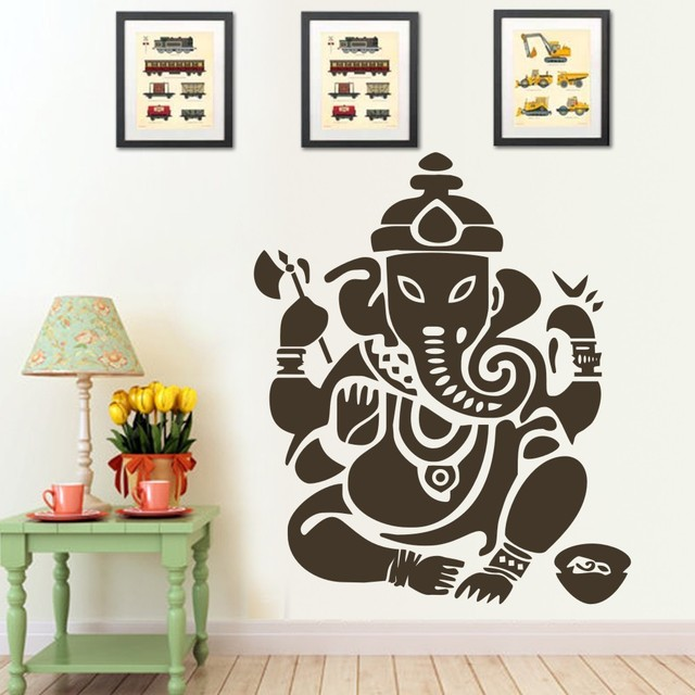 Ganesh buddhism india indian namaste buddha om yoga success god lord wall decal sticker 40