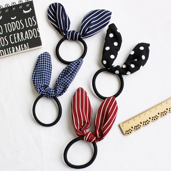 Limited New Dot Headwear Rabbit Ears Polka Dots Elastic Hair Bands Rubber Accessories Pins Headband Fast Bun Gum For жидкость besso vape fury gum new 30мл 0мг