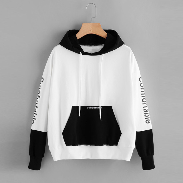 WOMAIL Womens Hoodie Print Comfortable Sweatshirt Long Sleeve Pullover Tops  Blouse Sudadera Luxury Branded Jan23 D40 7265c8ca1caa