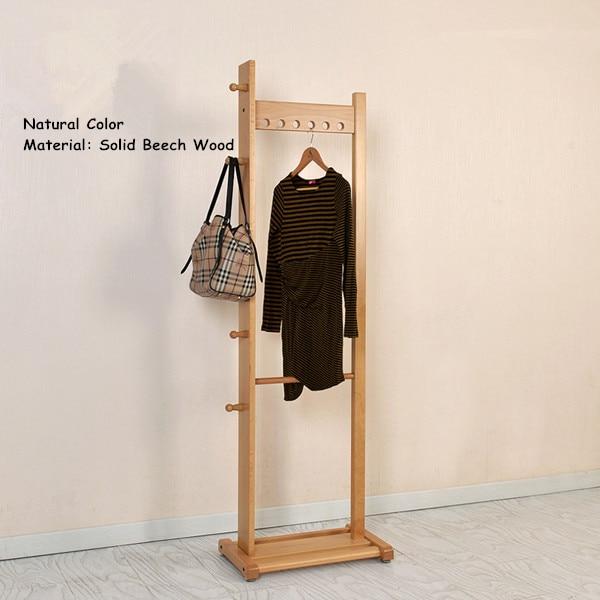 modern clothes racks stand oakbeech wood 55x175cm living room furniture portable bedroom hat hanger