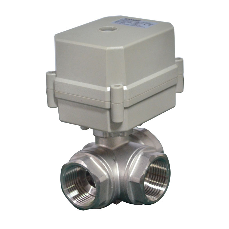 DN15 1 2 inch 3way Electric SS304 Valve Electric SS304 Motorized Valve