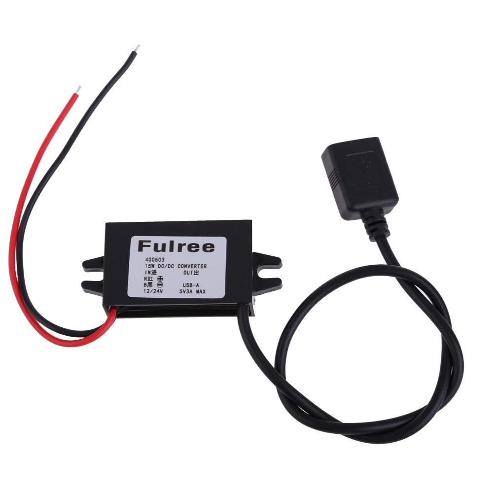 Einzel USB 12 V 24 V zu 5 V DC/DC Schritt Dc-step-down-adapter-konverter Inverter Auto Elektronik zubehör