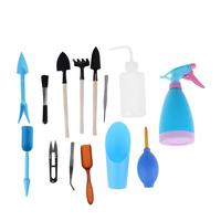 14pcs Gardening Tool Set Multifunctiona Kit Ferramentas Bonsai Equipment Fork Shovel Forceps Spray Bottle Free Shipping